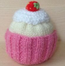 KNITTING PATTERN - Cupcake chocolate orange cover / 9 cms Cake toy