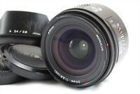 【EXC++++】Minolta AF 24mm f/2.8 (22) Wide Angle Lens w/ Hood from Japan #2965