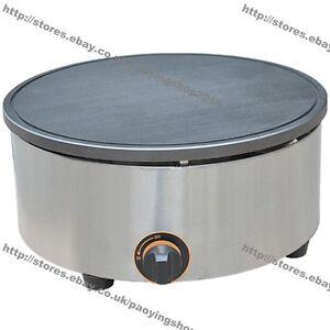 "15.75"" 40cm Commercial Nonstick Gas Pancake Crepe Machine Baker Maker Iron Mold"