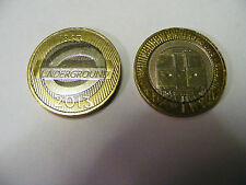 London  Underground 2  x  £2  Coins (Different) 1863 / 2013  (Minted Off Centre)