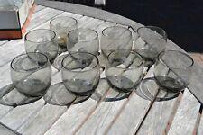 Lot 9 Los Angeles Rams Nfl Vintage Smoke Drinking Tumbler Glasses !