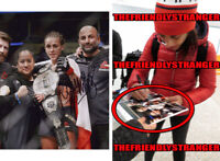 "JOANNA JEDRZEJCZYK signed Autographed ""UFC"" 8X10 PHOTO a EXACT PROOF Champ COA"