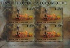 Swiss Nord Bahn LIMMAT 4-2-0 Railway Locomotive Train Stamp Sheet (2012 Burundi)