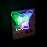 Colorful Butterfly Night Light Lamp Lovely Home LED Bedside Night Light Lamp