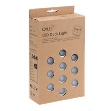 10er set LED Leuchte Boden Einbaustrahler Außenlampe Garten Flur wasserdicht