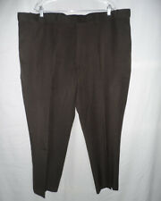 Botany 500 46 x 30 Dark Brown Comfort Expandable Stretched Waist Dress Pants