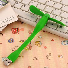 Green Portable Flexible USB Mini Fan Xiaomi Charge For all Power Supply USB Cute