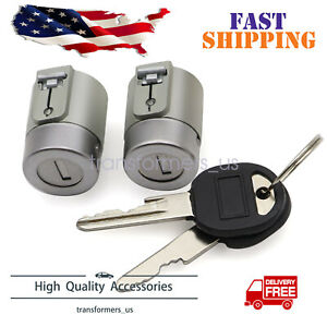 Front Door Lock Cylinder Kit Pair Set with Keys For C1500 K1500 C2500Tahoe Yukon