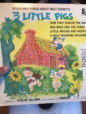 Vintage Disneyland Vinyl Record 3 Little Pigs Lp