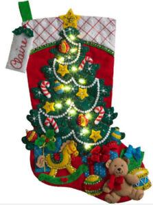 BUCILLA Felt Embroidery Applique Christmas Stockings - Some RARE... REDUCED!