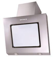 Dunstabzugshaube PKM 9031W 60cm weiß Glas Kopffreihaube Edelstahl Schräghaube
