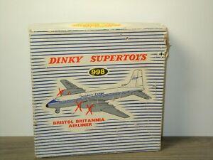 Original Empty Dinky SuperToys Box 998 - Bristol Britannia Airliner *48346