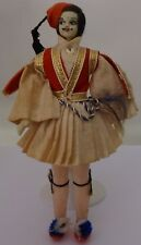 A doll in a man's Greek costume. 1960s      Free shipping.