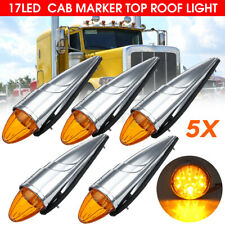 5x 17LED Torpedo Cab Roof Marker Light Clearance Lamp For Peterbilt Trucks