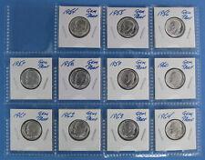 1954 1955 1956 thru 1964 Silver Gem Proof Roosevelt Dime 11 Coin Set
