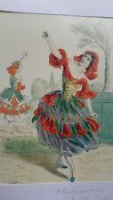 Illustration de Grandville - Fleurs Animées - Fleur de Grenadier -