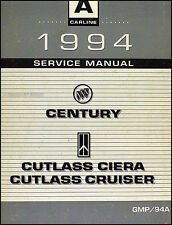 1994 Shop Manual Buick Century Olds Cutlass Ciera and Cruiser Oldsmobile Service
