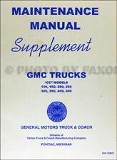 1941-1942 GMC CC100-CC450 Truck Shop Manual Supplement Repair Service Book
