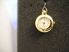 COLIBRI  GOLDTONE WHITE FACE  PENDANT WATCH  NEW  reduced as-is