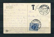 Czechoslovakia 1938 Postal card tax due Praha-Zabreh Single Usage DoplataSKU 757