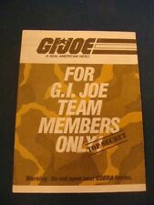 Top Secret GI Joe Catalog Decent Shape GI JOE