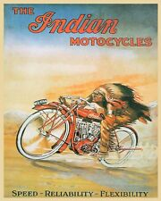 10 x 8 INDIAN AMERICAN MOTORCYCLE MOTORBIKE METAL PLAQUE SIGN OTHERS LISTED N362
