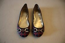 5b4124b3 Tommy Hilfiger Women's Navy Blue & Red Ballet Flat Style Shoes W/ Gold  Chains 8M