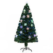 HOMCOM Árbol de Navidad 150cm Árbol Artificial de Fibra Óptica 20 Luces LED