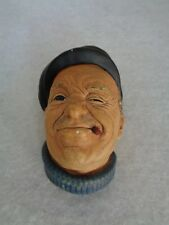 """Vintage Bossons Chalkware """"Boatman"""" Head Made in England (Cat.#2A030)"""