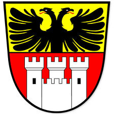 "Duisburg Germany Coat of Arms bumper sticker 4"" x 5"""