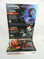 Hyperx Cloud Revolver S Pro Gaming Headset GAME STOP POSTER JUJU, EMBID, RARE