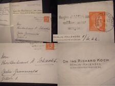 ORIG. lettera tenente colonnello cassetto Berlino Breen Halensee 2wk WWII FRANCOBOLLO