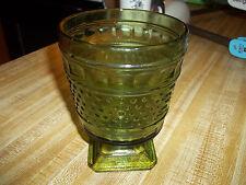 Napco Hobnail Green 1180 Glass Pedestal Base Large Cleveland OH