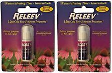 Releev 1 Day Cold Sore Symptom Treatment 1ml Viracea Formula Exp 2020 Lot of 2