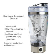 Electric Protein Shaker Bottle Vortex Mixer Cup Portable Blender Drink Health