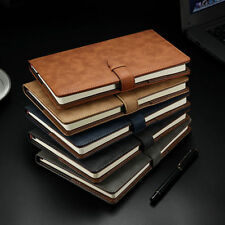 A5 Vintage Business Leather Cover Diary Notebook Journals Writing Book Planner