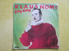 "45T Klaus Nomi "" Ding Dong """