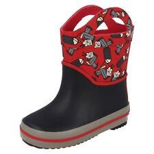 Scarpe Stivali rosso sintetico per bambini dai 2 ai 16 anni