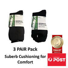 Mens Bamboo Work Socks Super Thick Cushioned for Comfort (3 PACK)