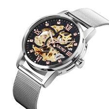 Relojes mecánicos automático Skmei para hombres, skeleton, cadena milanesa