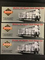 HO Proto 2000 Series 40'Single Deck Mather Stock Car 21212 21210 21209 Set Of 3