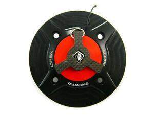 Ducabike Ducati 899 959 1199 1299 Panigale Fuel Gas Tank Cap - Black-Red