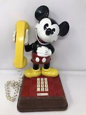 "Vintage Disney ""MICKEY MOUSE"" Telephone Push Button Retro Landline Working VGC"