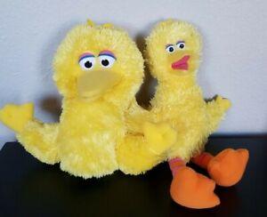 Sesame Street LOT Gund Big Bird Hand Puppet & Plush stuffed animal TV Show