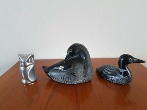 Boma & Aardvark Loon & Hoselton Owl Figures