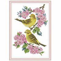 Handmade Needlework Cross Stitch Set Embroidery Kit 14CT Beautiful Flower Bird