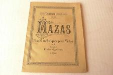 Partition Etudes mélodiques pour violon MAZAS Collection LITOLFF n°454