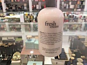 Philosophy Fresh Cream Shampoo, Shower Gel, and Bubble Bath 480ml