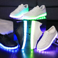Unisex LED Luminous Sneakers USB Light up Shoes Lace up Casual Sportswear 7color