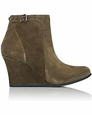 Lanvin Wedge Ankle Boot Size 38.5 Gray Suede New with the box